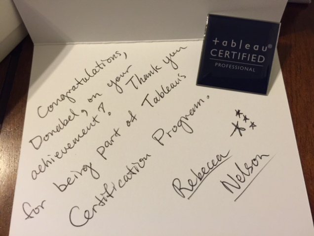 Tableau Certified Professionals - Card