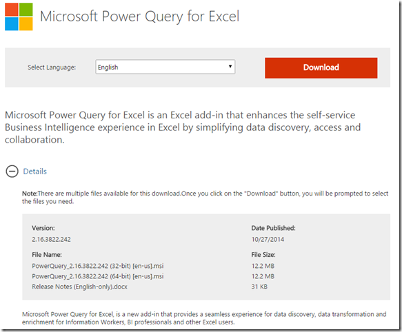 MS Power Query for Excel