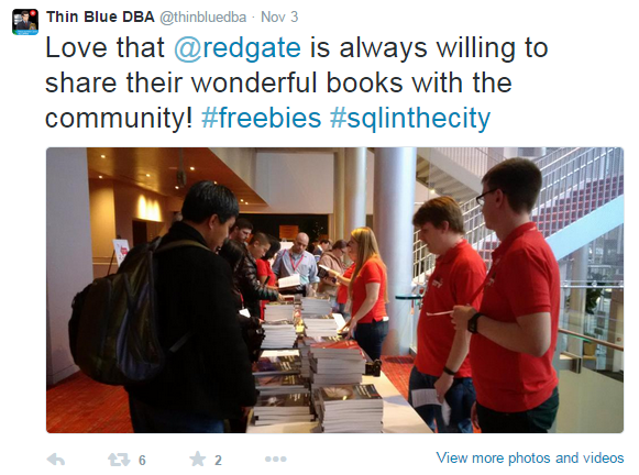 redgate thin blue dba tweet on free books