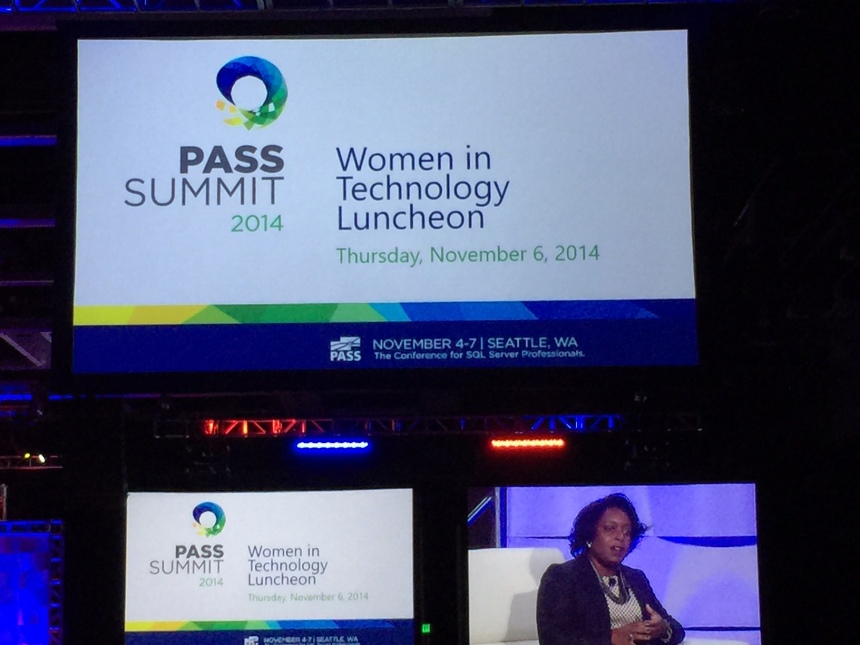 Kimberly Bryant at PASS Summit 2014 Women in Technology Luncheon