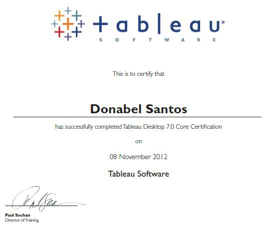 Tableau Desktop 7 Core Certified