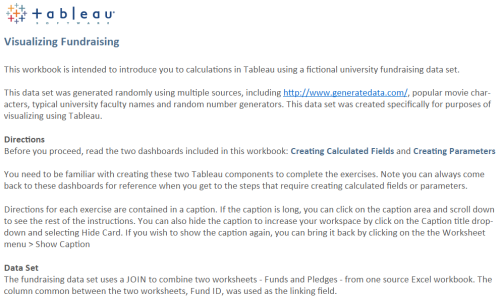 TFT - Tableau for Teaching - Introduction to Calculations