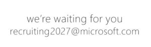 microsoft recruiting2027