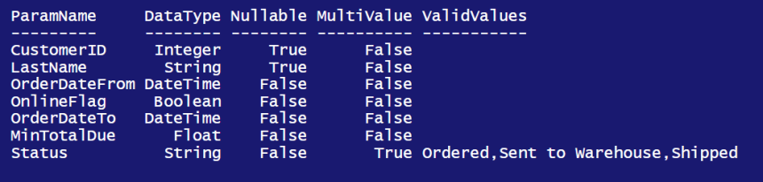 Discovering SSRS Report Parameters using PowerShell