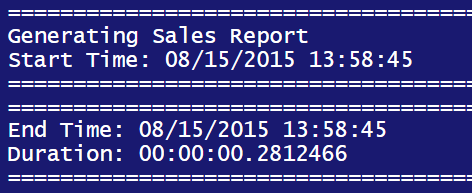 Using PowerShell to Generate SSRS Report - duration